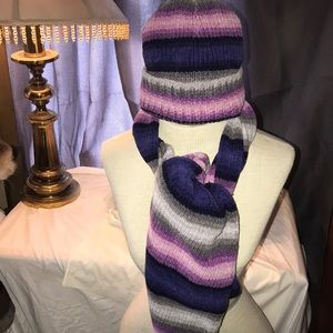 💜Scarf & Hat matching Set💜